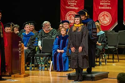 Seventy-six degrees were conferred to students at The College of Graduate Studies and Research Commencement and Hooding Ceremony on December 13.