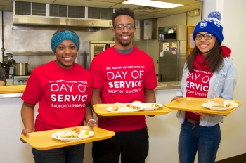 More than 400 students, faculty and staff are expected to participate in Radford University's sixth annual Martin Luther King Jr. Day of Service volunteer activities across the New River and Roanoke valleys.