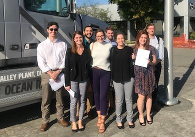 Reilly's fall 2018 IO class that worked with a Volvo project in late 2018.