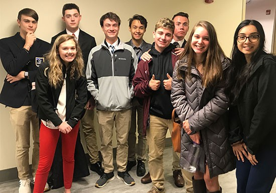 Students from Blacksburg High School joined together with the Davis College of Business and Economics for a day of learning, insight and inspiration.