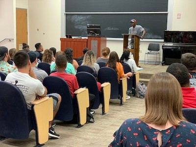 Ricky Jackson shared his story with Radford University students, faculty and staff.