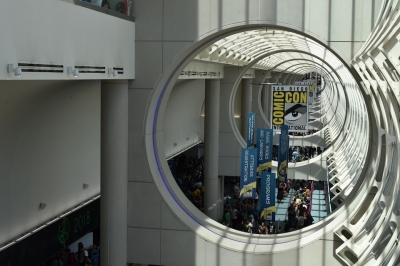 An overhead view of just a portion of Comic-Con International in San Diego.