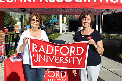 Left to right: Patsy Coulson '71 and Judy Willis, retired Radford University employee.