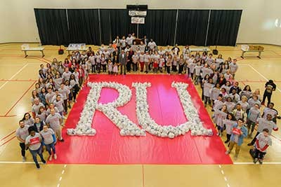 The campus community is encouraged to collect more than 15,000 canned food items as part of the Radford Gives Back partnership with local nonprofit Bobcat Backpacks.