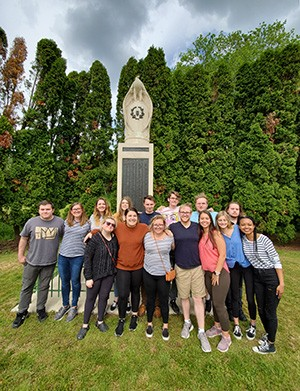 The 2019 study abroad group visited key sites from both the World Wars in American history.