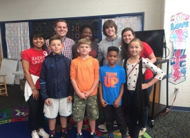 SGA lunch with belle heth's student council oct. 29
